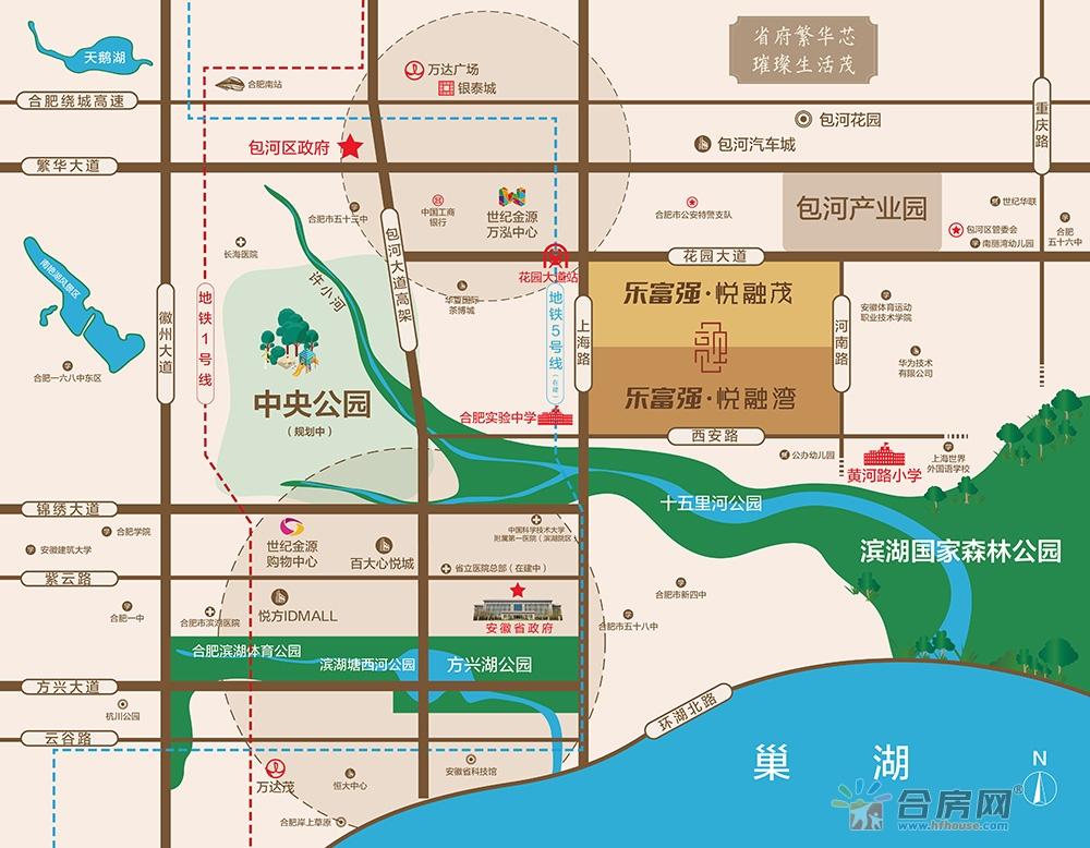 乐富强·悦融湾交通图