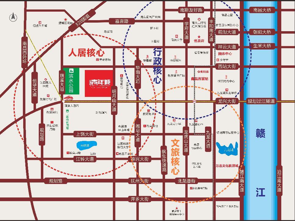 金地源·青年城交通图