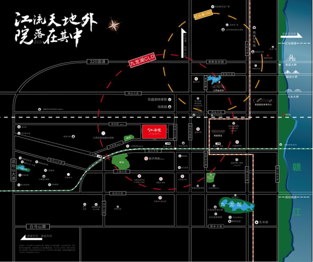 宸悦·江语院交通图