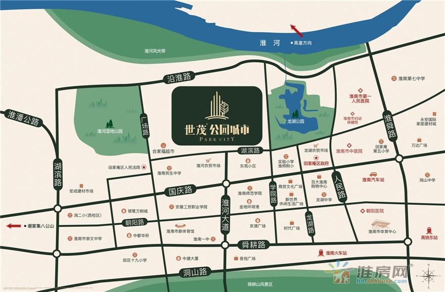 世茂·公园城市交通图