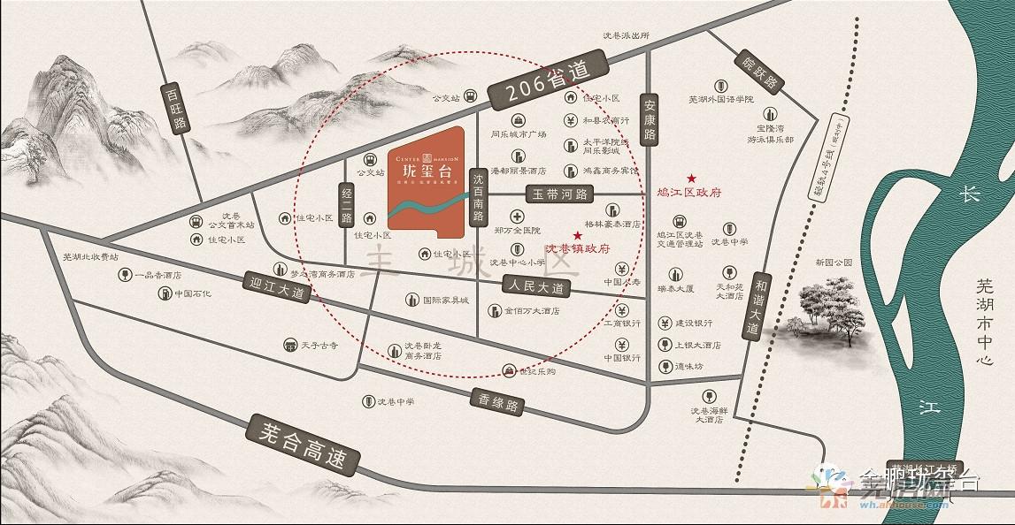 金鹏珑玺台交通图