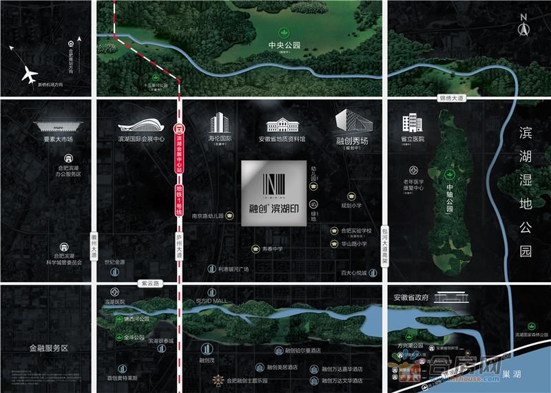 融创·滨湖印交通图