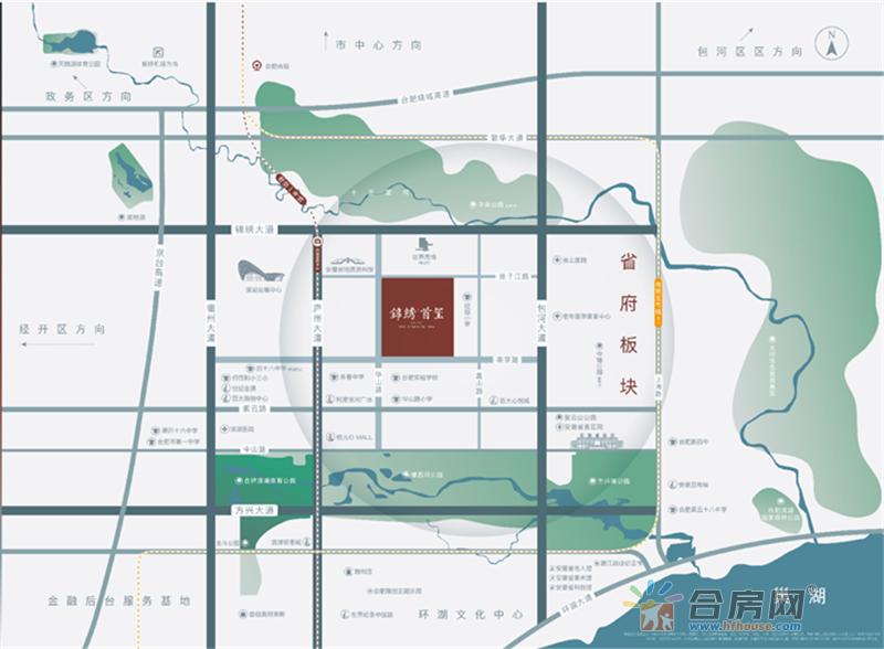 锦绣首玺交通图