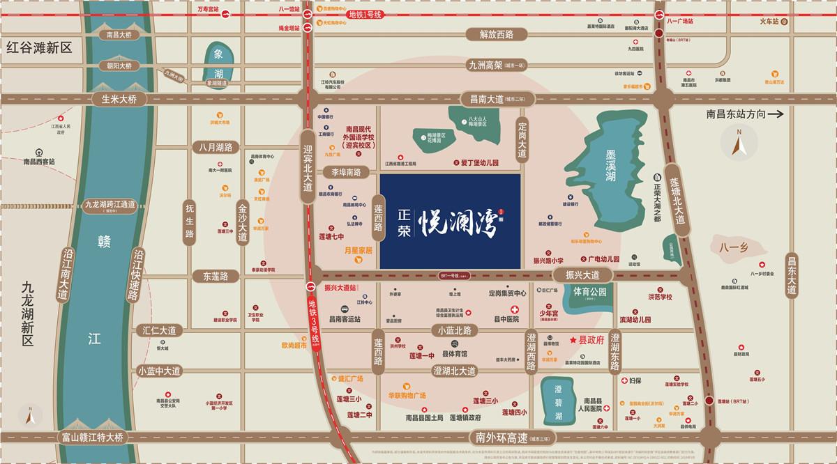 正荣悦澜湾交通图