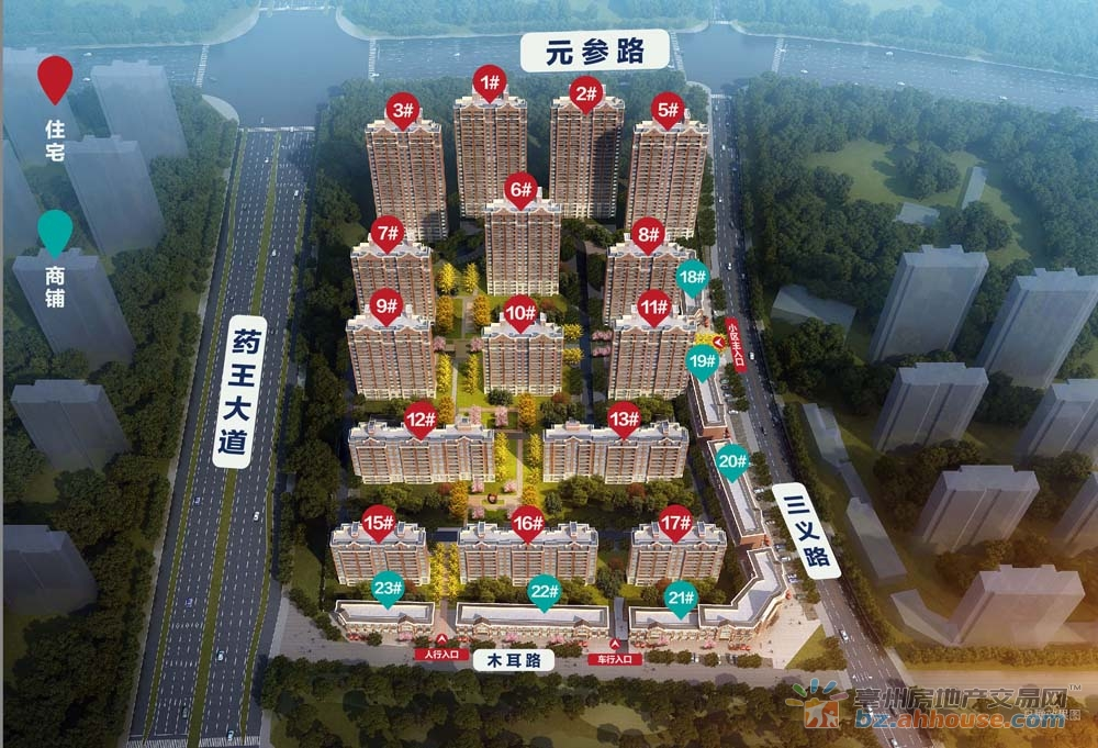 北京城房·时代樾府楼号图