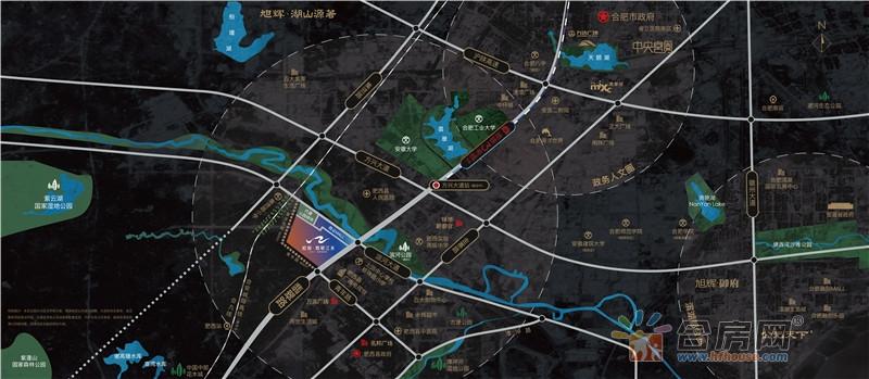 旭辉·翡翠江来交通图