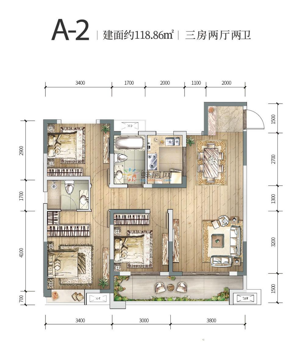 中国铁建燕南苑_3室2厅2卫1厨