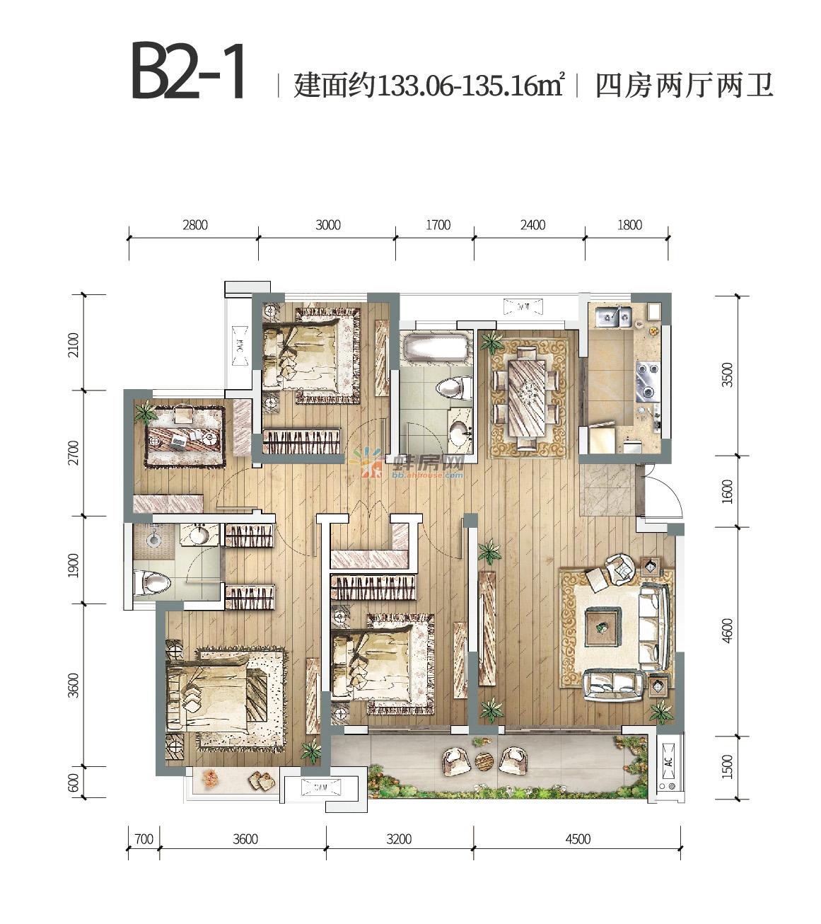 中国铁建燕南苑_4室2厅2卫1厨