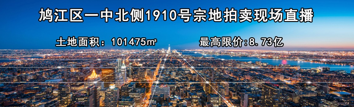 【直播实录】8.73亿+20元/㎡代建资金!伟星竞得芜湖1910号宗地