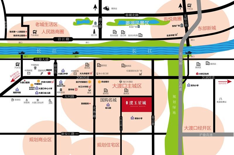 金汇·璞玉星城交通图