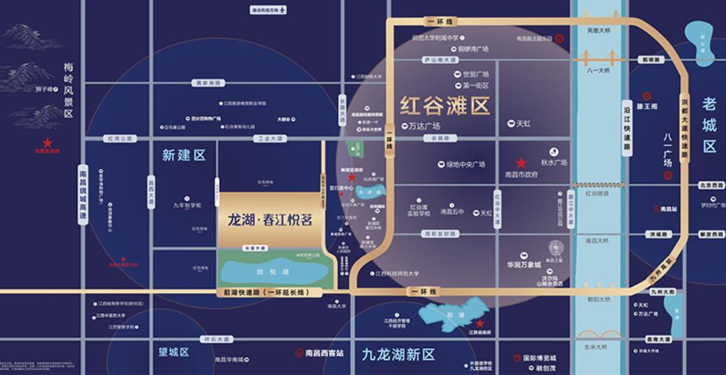 龙湖·春江悦茗交通图