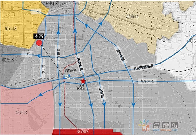 中铁五号院交通图
