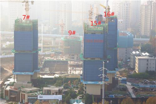镜湖世家12月工程进度:3#楼已建至13层左右
