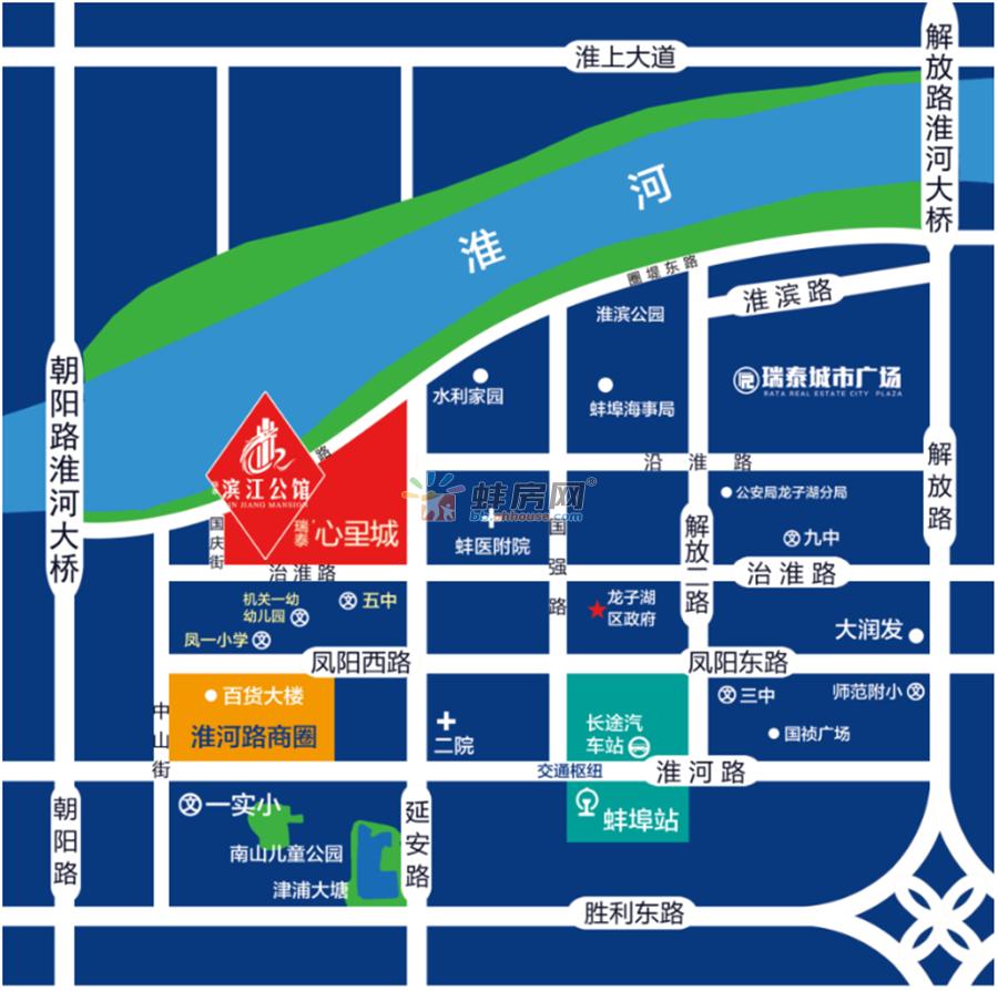 瑞泰滨江公馆交通图