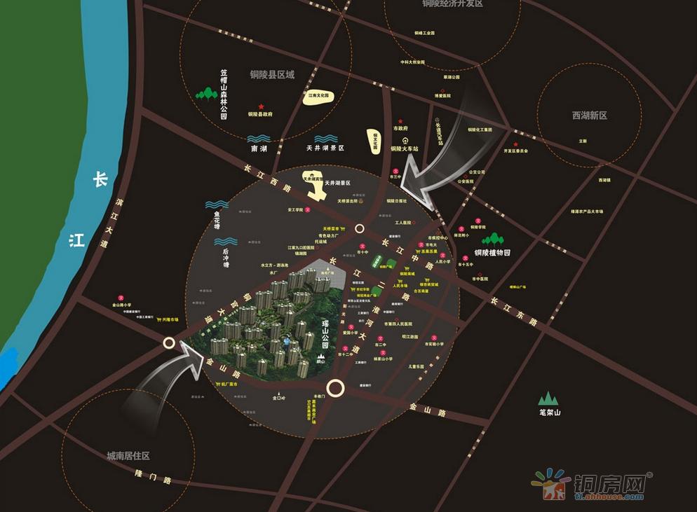 铜冠一品江山交通图
