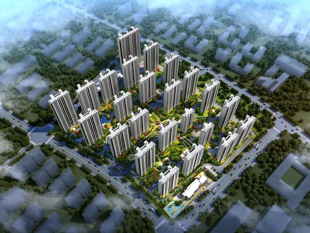 春江明月1月工程进度:23#楼建至14层左右