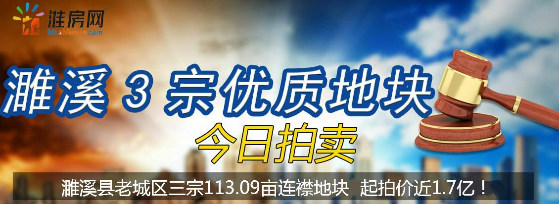 淮房网直播 | 濉溪县老城区三宗113.09亩连襟地块正在开拍