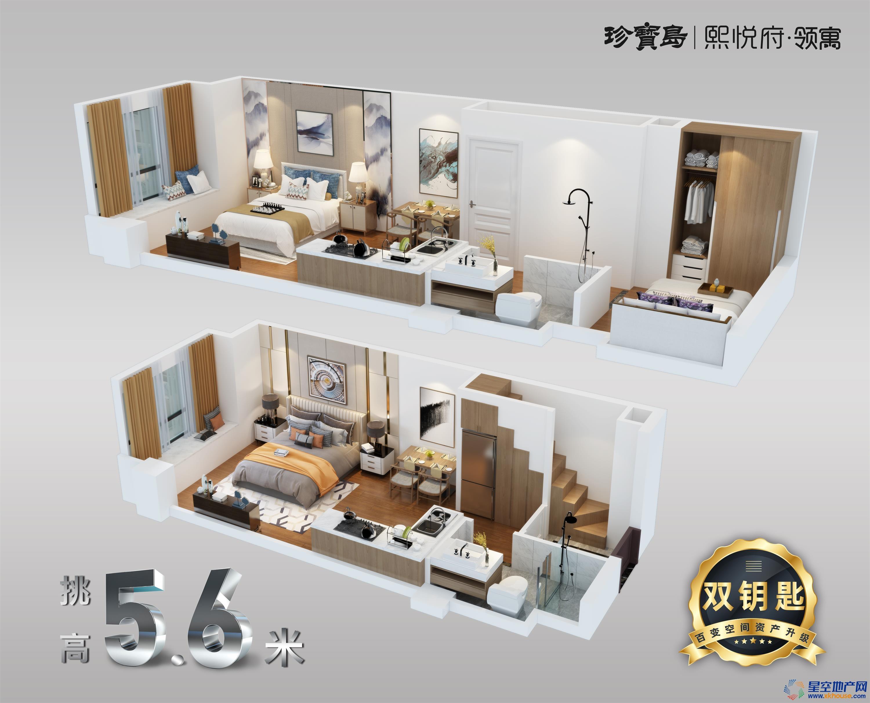 珍宝岛|熙悦府·领寓_2室2厅2卫0厨