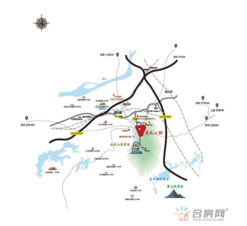 莲花小镇交通图