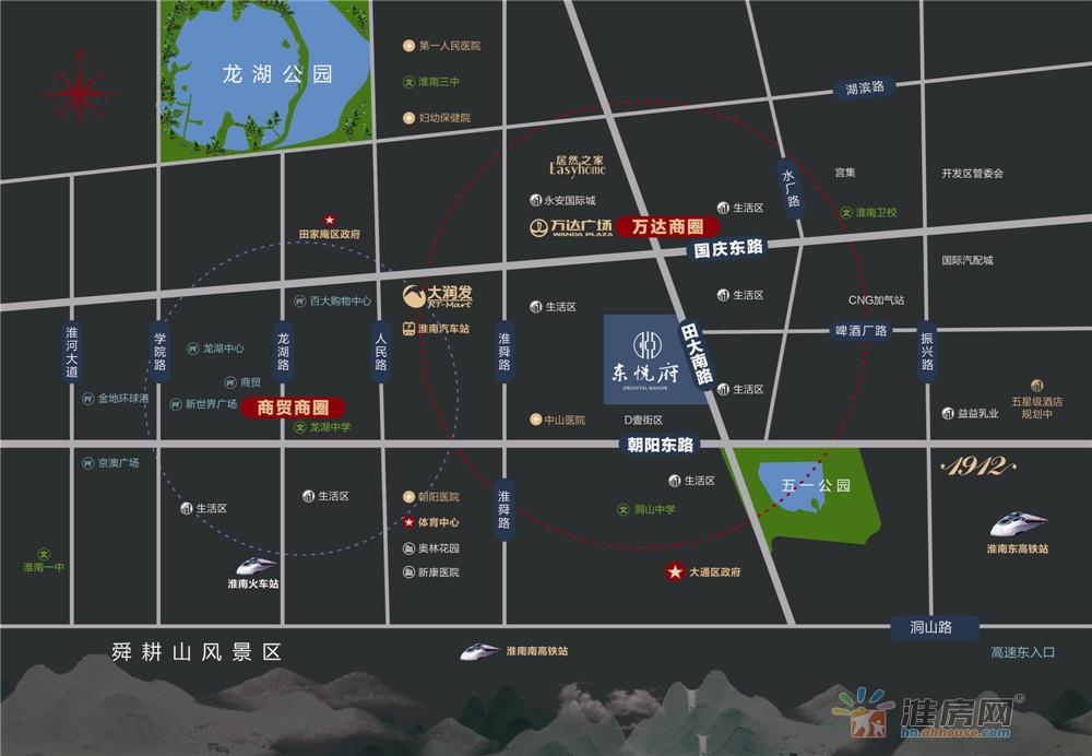东悦府交通图