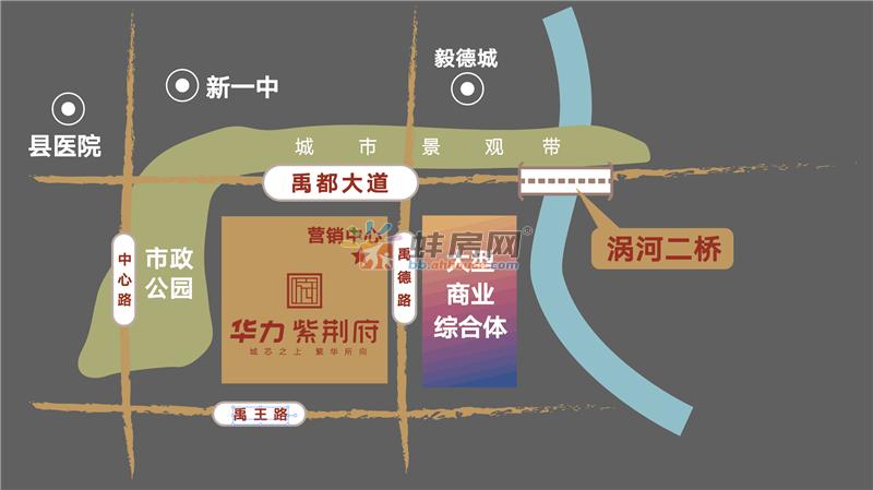 华力·紫荆府交通图
