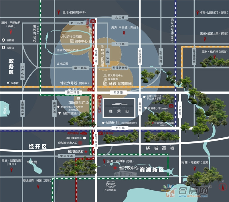雍荣府交通图