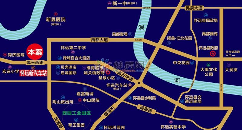 怀远中国科技五金城交通图