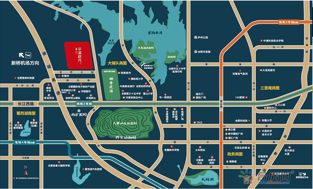 禹洲·平湖秋月交通图