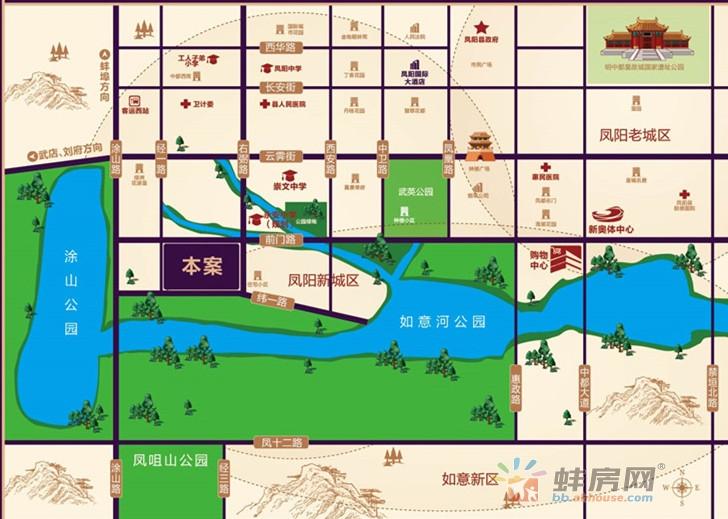 荣欣清河园交通图