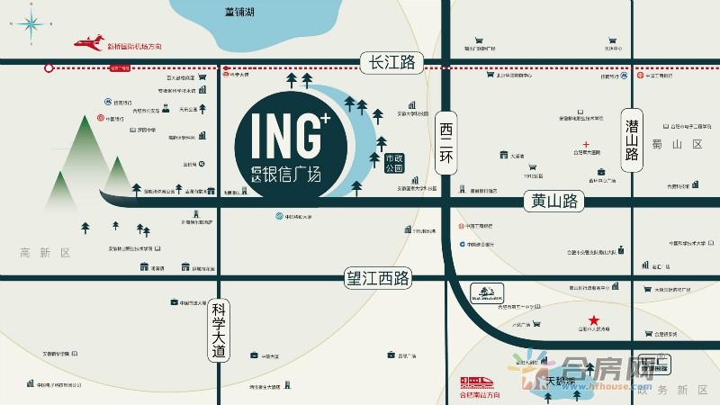 信达·银信广场交通图