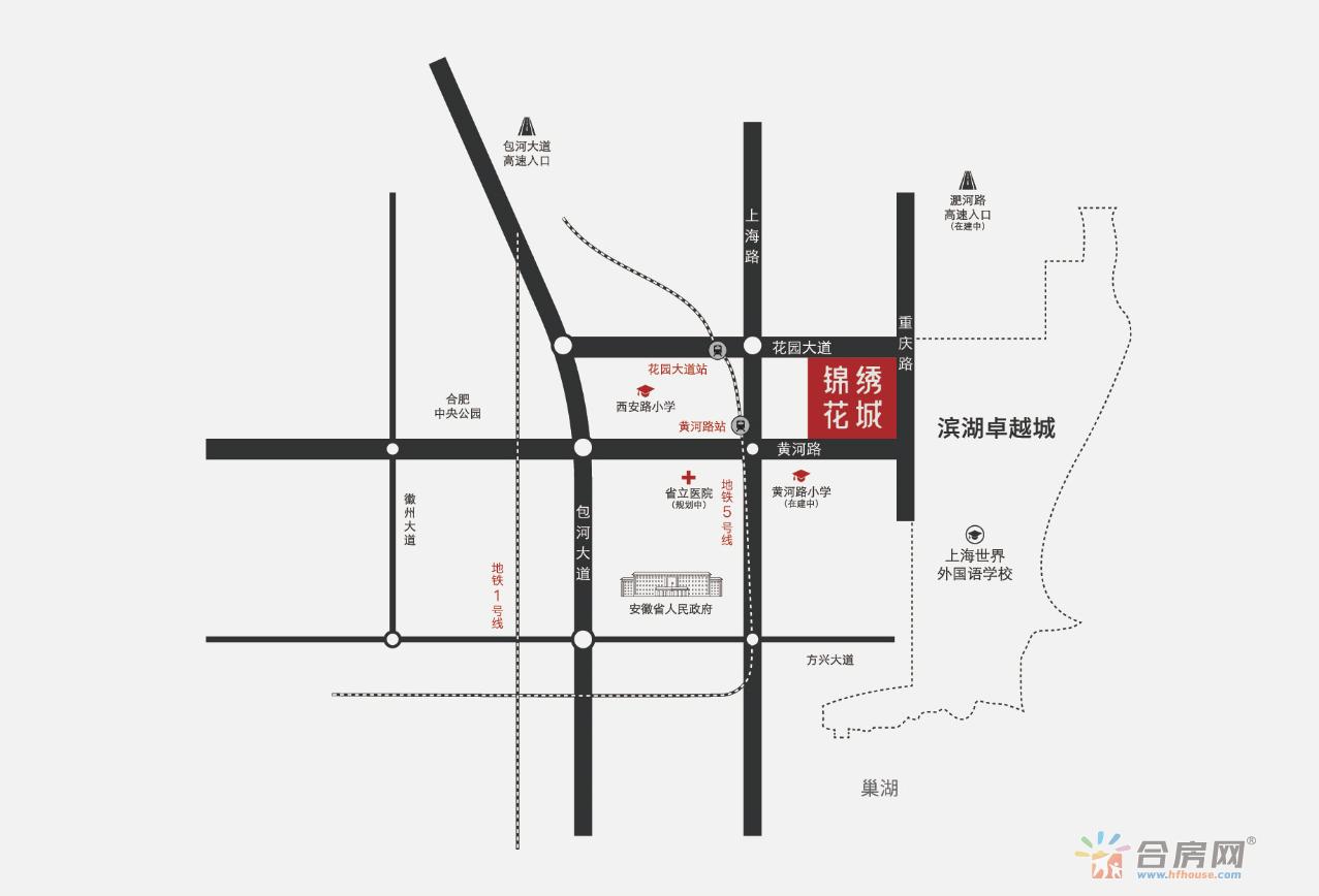 锦绣花城交通图
