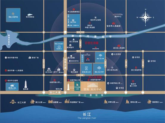 置地·安庆中心交通图