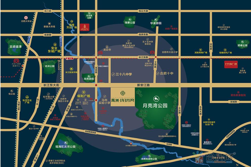 禹洲珑玥湾交通图