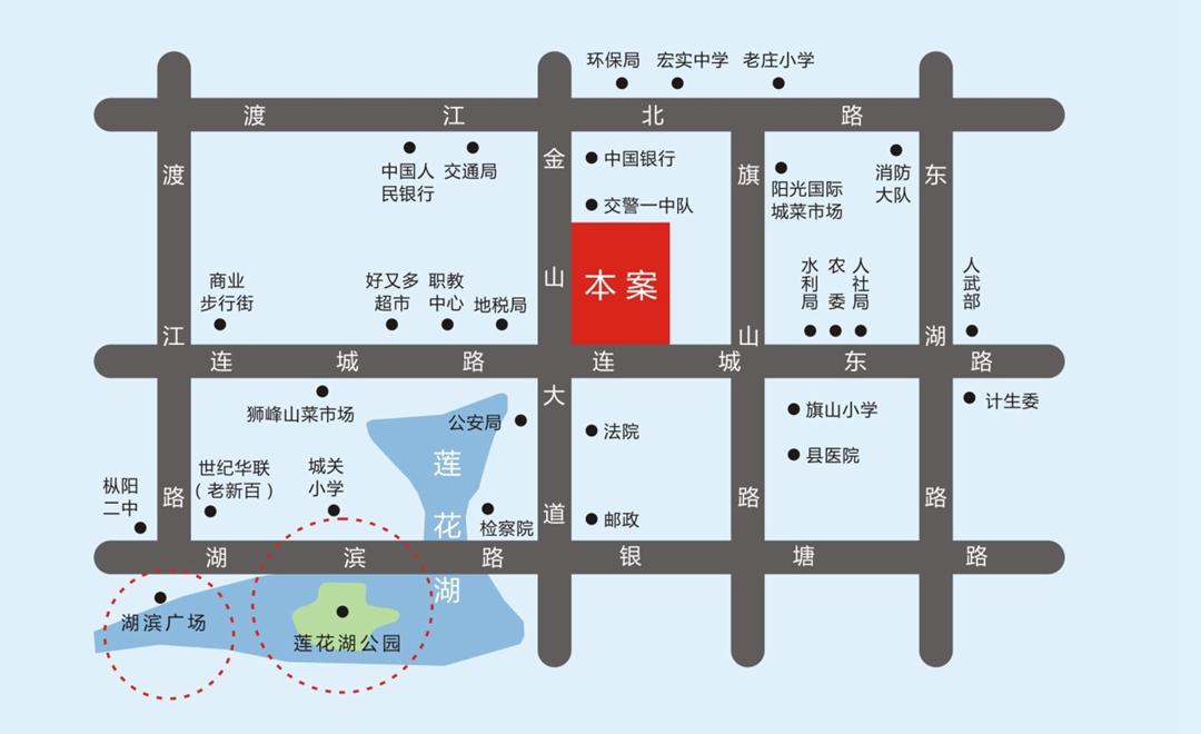 逸龙山庄交通图