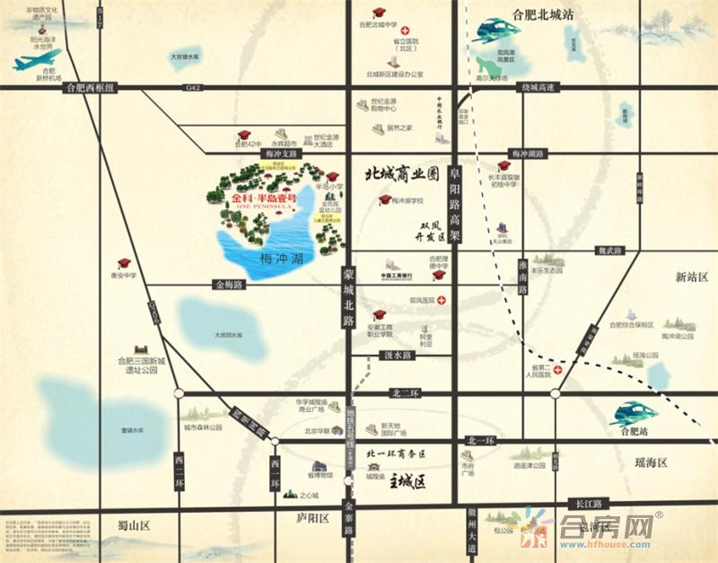 金科半岛壹号交通图