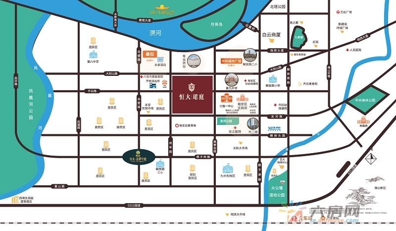 六安恒大珺庭交通图