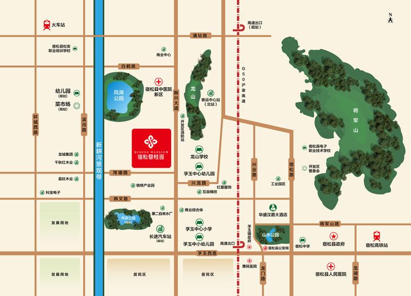 宿松碧桂园交通图