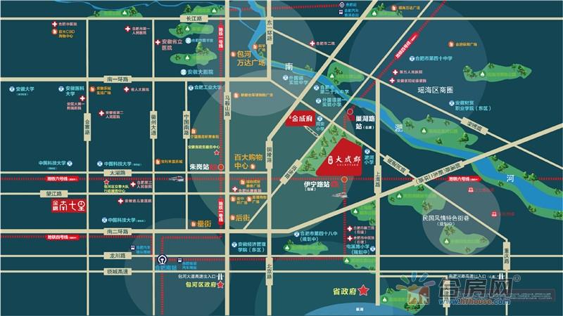 金隅·大成郡交通图