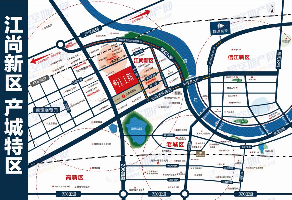 西城江上院交通图