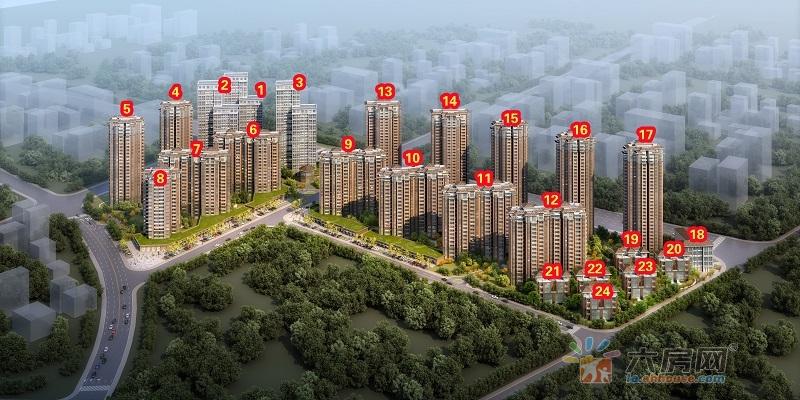 和谐名城楼号图