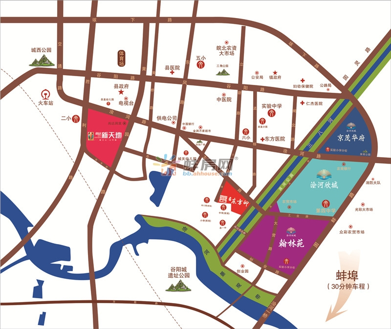 浍河欣城·翰林苑交通图
