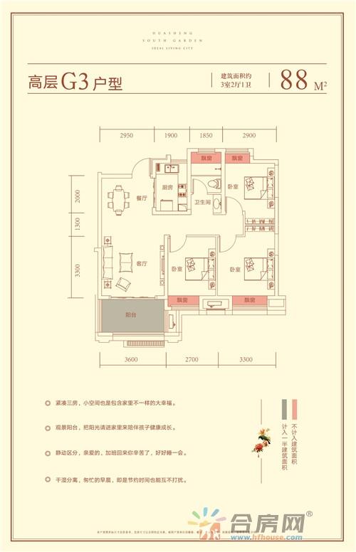 华盛南院_3室2厅1卫0厨