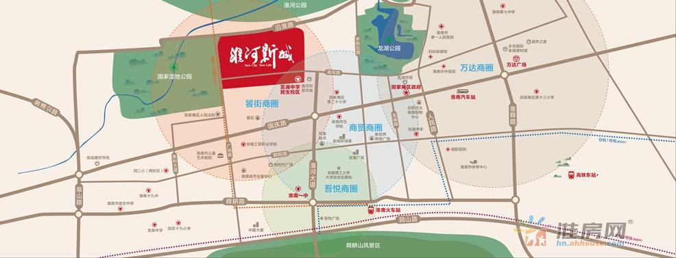 淮河新城交通图