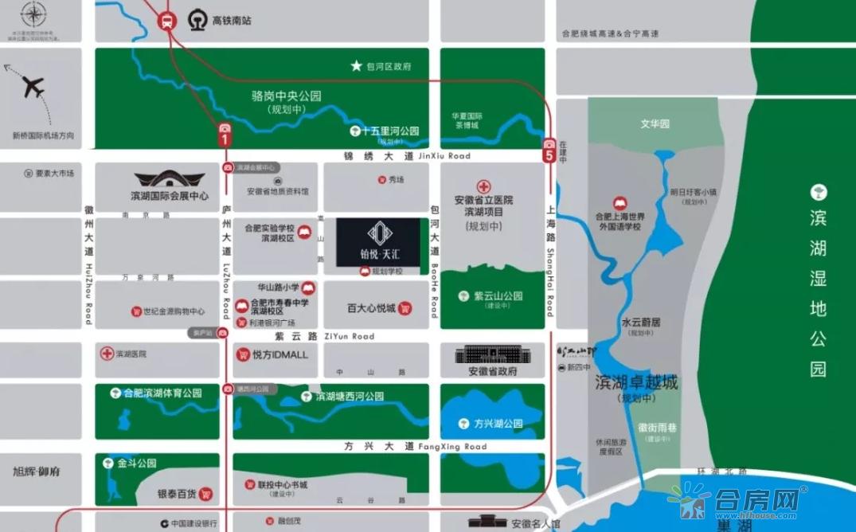 旭辉铂悦天汇交通图
