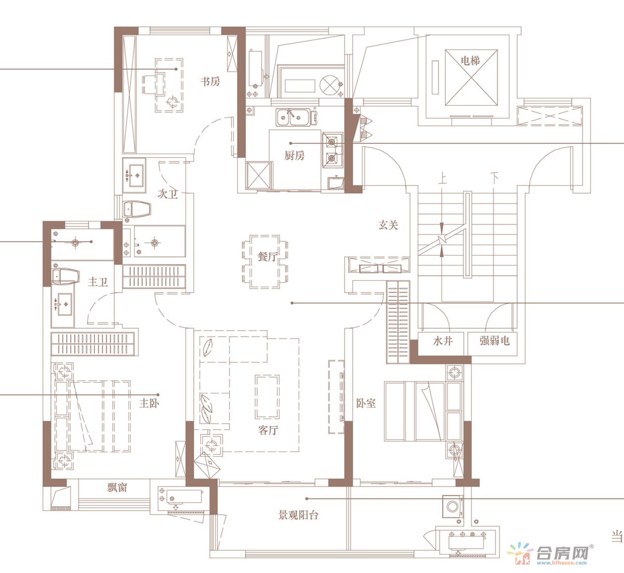新力弘阳·湖畔樾山_3室2厅2卫1厨