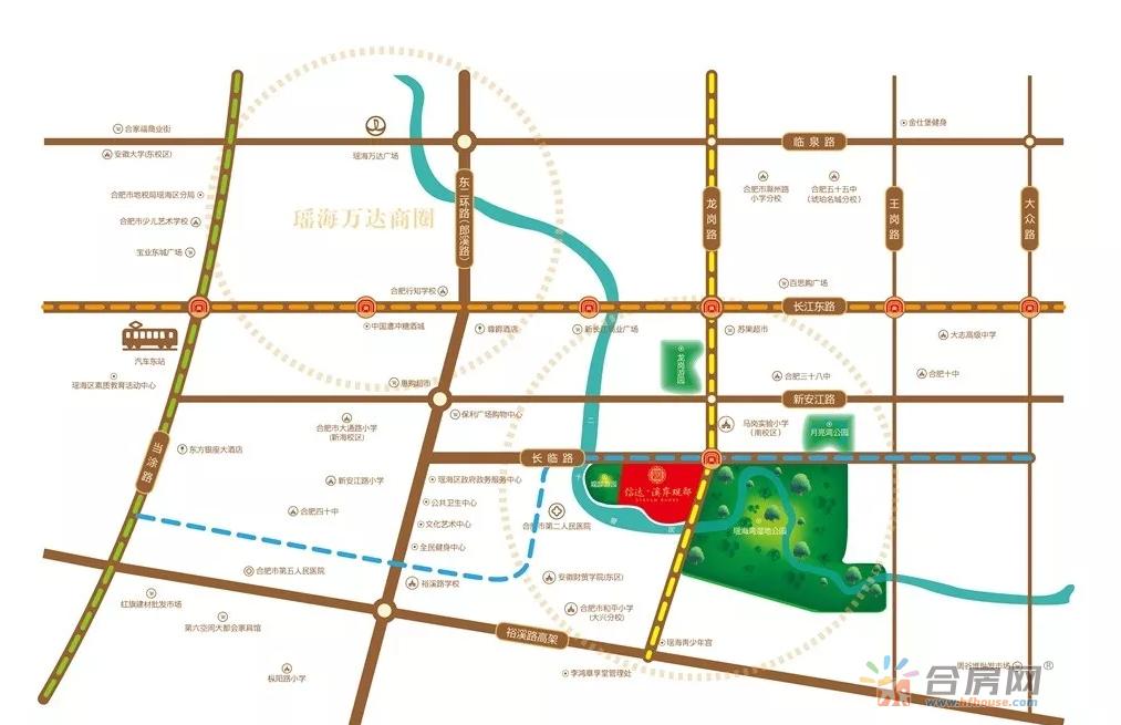 信达·溪岸观邸交通图