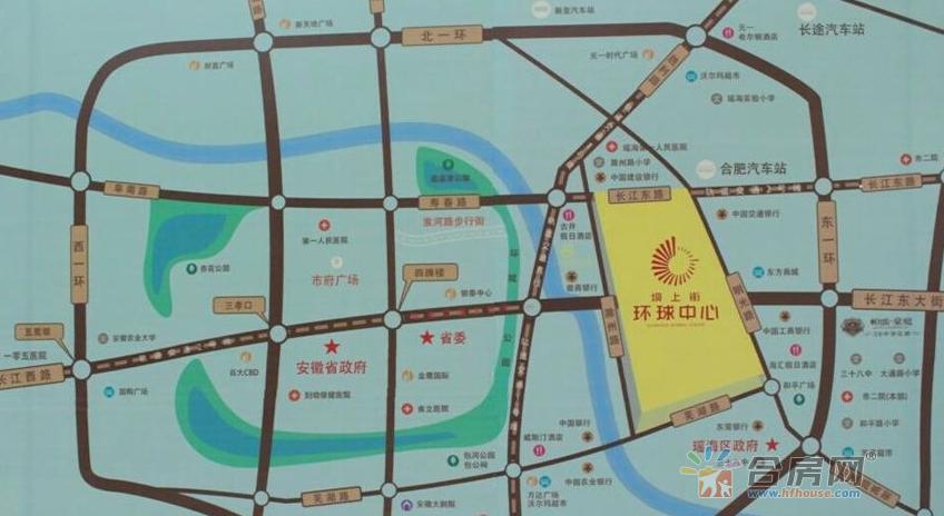 坝上街环球中心交通图