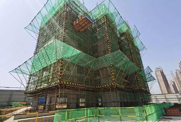 和悦风华:多图直击  2栋已结构封顶