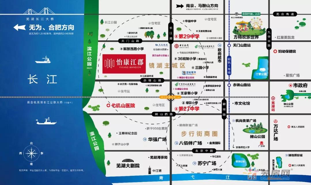 怡康江郡交通图