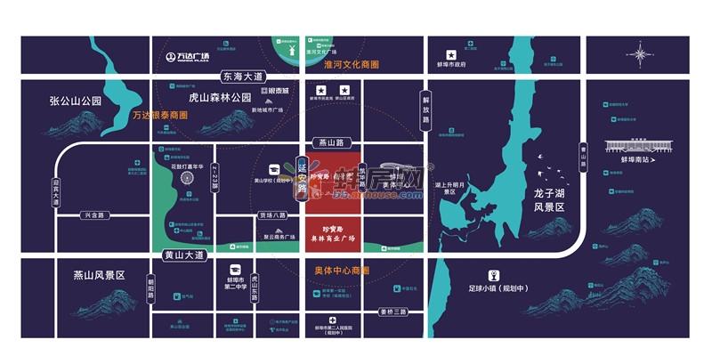 珍宝岛雍景院交通图